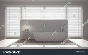 scandinavian bathroom white minimalistic interior design stock