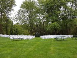 Padded Lawn Chairs Back View Of 200 White Padded Resin Chairs For An Outdoor Wedding
