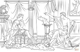 alexander the great and aristotle coloring page free printable