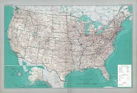 United States America Map by The National Atlas Of The United States Of America Perry