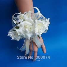 corsage wristlets top wedding flowers wristlet corsage bracelet white