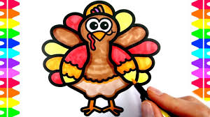 happy thanksgiving coloring how to draw a turkey gobble