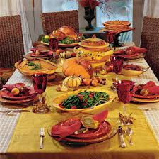 rectangular shaped thanksgiving day table decorations with