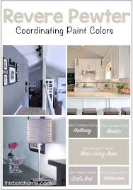benjamin revere pewter and coordinating paint colors
