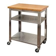stainless steel kitchen work table island stainless steel kitchen work table cart with bamboo top seville