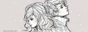 couple sketch fb cover photo