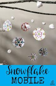 snowflake mobile craft