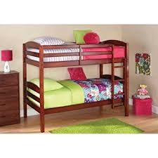 Wooden Bunk Beds With Mattresses Mainstays Wood Bunk Bed Walnut