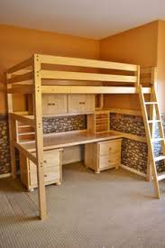 desks bunk beds full over full bed desk combo queen loft bed