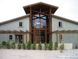 modern large barn house design that has grey exterior wall can add
