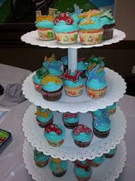 planes trains and automobiles cupcakes for boy baby shower