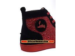 christian louboutin louis veau velours men s basketball shoes red
