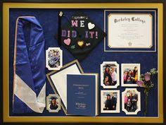 graduation cap frame high school graduation collage with cap and special keepsakes