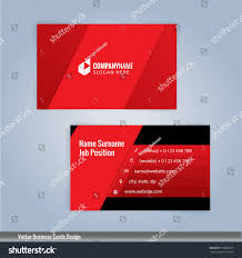 red black modern business card template stock vector 552883210