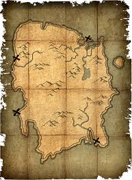 Elder Scrolls Map Deathbrand Treasure Map Elder Scrolls Fandom Powered By Wikia
