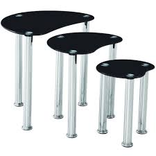 cara furniture range coffee table nest of 3 tables glass top