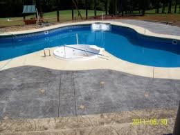 stamped concrete pool deck otg on the go custom concrete