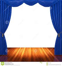 Blue Curtains Stage With Blue Curtains And Spotlight Stock Photo Image 56570553