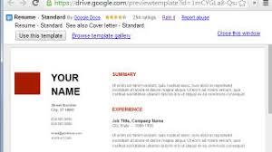 resume templates google sheets use google docs resume templates for a free good looking resume