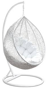 Chair That Hangs From Ceiling Hanging Egg Chair Tinkertonk Garden Patio Rattan Swing Cushion