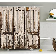 amazon com rustic shower curtain by ambesonne vintage house