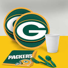green bay packers tableware party pack for 16 walmart com