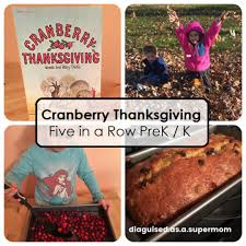 five in a row cranberry thanksgiving literature unit study