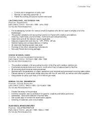 Bookkeeper Duties And Responsibilities Resume Mara Cv