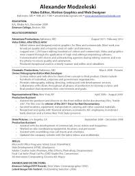 Web Producer Resume Resume Videos Resume For Your Job Application
