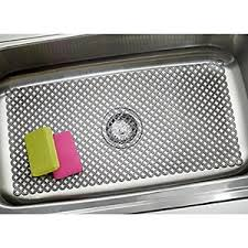 mdesign sink protector mat for kitchen sinks large 12 x