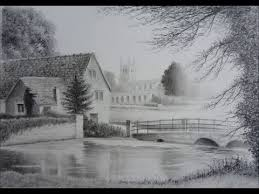 how to draw landscapes old barn buildings skies using graphite