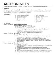 Resume Templates For Administration Job by Best Administrative Coordinator Resume Example Livecareer
