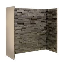 massive savings gallery staggered black slate block chamber