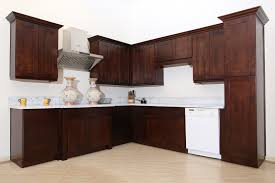 Crown Molding Ideas For Kitchen Cabinets Amusing Black Color Maple Shaker Kitchen Cabinets With White