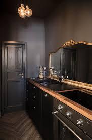 modern black kitchen antique mirror francesca timperanza