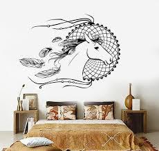 Vinyl Wall Decals For Bedroom Vinyl Wall Decal Dream Catcher Horse Bedroom Decor Dreamcatcher