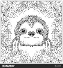 sloth coloring page clip art sloth coloring page breadedcat free