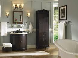 bathrooms design standing towel rack wall brushed nickel