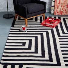 Black Modern Rugs Outstanding Black White And Grey Rug Plain Ideas Modern Rugs