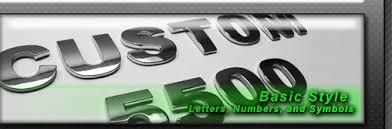 chrome car letters badges emblems 3d chrome letter kits and