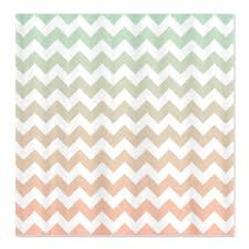 Pink And Orange Shower Curtain Mint And Light Pink Custom Ombre Chevron Shower