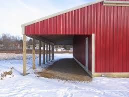 How To Build A Lean To On A Pole Barn Pole Barn Lean To U0027s Pole Barns Direct