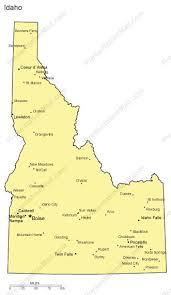 map of idaho cities idaho powerpoint map major cities