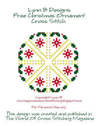 happiness is cross stitching free christmas ornament pattern now