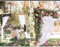 wedding arches flowers wedding arch etsy