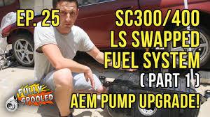 lexus sc300 gas tank lexus sc drift build ep 25 ls swap fuel system pt 1 aem in