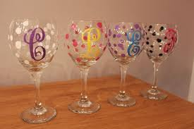 diy monogram wine glasses wine glass design ideas