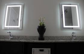 illuminated bathroom mirrors battery operated home design ideas