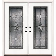 feather river doors 74 in x 81 625 in sapphire patina full lite