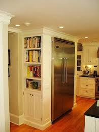 space above fridge idea i like this or making it into a wine rack